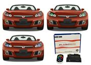 For Saturn Sky 07-10 Rgb Multi Color Wifi Led Halo Kit For Headlights