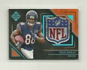 2019 Panini Majestic Riley Ridley Rc Platinum Nfl Shield Relic Materials D 1/1