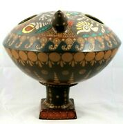 Huge Ceramic/pottery Turtle With Base Fine Mexican Folk Art Collectible Decor