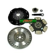 Pi Xtreme Stage 4 Clutch Kit Andflywheel For Civic Del Sol D15b7 D15z6 D16y7 D16z6