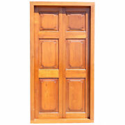 Large Antique Anglo Indian Teak Double Door With Frame 19th Century