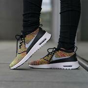 Nike Air Max Thea Ultra Fk Flyknit Multi-color Rainbow Womens Sz 7 Racer Shoes