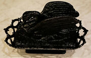 Rare Black Westmoreland Glass Company Raised Wing Swan Covered Dish