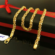 18 Kt Hallmark Real Solid Yellow Gold Curb Cuban Necklace Menand039s Chain 19.780 Gms