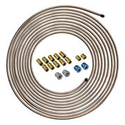 4lifetimelines 25 Ft 1/4 Copper Nickel Brake Line Replacement And Fitting Kit
