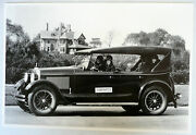12 By 18 Black And White Picture 1925 Peerless 4 Door Touring Aa With Cowl Light
