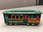 Vintage Powell And Mason Streets San Francisco 514 Cable Car Trolley Tin Toy