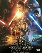 Jj Abrams Signed 11x14 Photo Psa/dna Coa Star Wars The Force Awakens Autographed