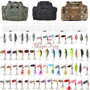 60 Fishing Spinner Rooster Tail Lures Tackle Bag 5 Boxes Variety Kit Trout Bass