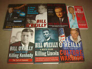 Bill O'reilly 7 Book Lot Killing Kennedy Lincoln Factor Culture Warrior Spin Hc