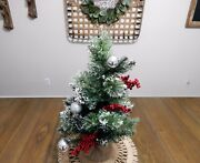 24 Large Natural Holiday Tree Christmas/winter Table Top Or Mantle Centerpiece