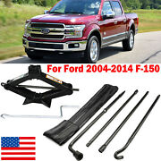 2 Ton Scissor Jack Handle Lug Wrench Extension Spare Tire Tool Kit For Ford F150