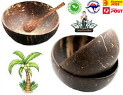 4x Organic Coconut Bowl Handmade Crafted Natural Shell Sustainable Eco-friendly