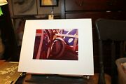 Vintage 11x14 Mounted Photograph Signed 1978 Gas Station Signs