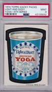 1974 Topps Wacky Packs Light And Dizzy Yoga Psa 9 Mint Series 5 Packages