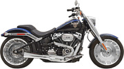 Bassani Road Rage 2-into-1 Short Chrome Exhaust For 2018+ Breakout/fat Boy 1s62r