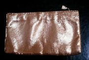 Beautiful Vintage Whiting And Davis Evening Bag Goldtone Mesh Purse Clutch
