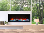 Amantii Symmetry Sym-60-xt Modern 60andprime Extra Tall Built-in Electric Fireplace