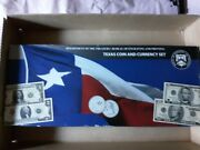 Texas Coin And Currency Set - Sn 00002808 1 2 5 10 All Same Serial Number