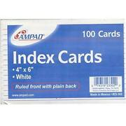 Ampad 4x 6 Index Cards 100ct Ruled Case Pack Of 50 Ideal For Bulk Buyers