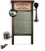 Washboard Percussion Musical Instrument Handmade By Luthier Tabla Lavar Tallador
