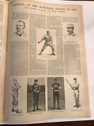 Rare Complete Issue 1890 Opening Of The Baseball Season Harper's Weekly Ac Anson