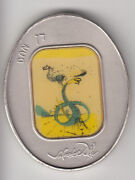 Salvador Dali Tribes Of Israel Dan 105g Pure Silver Oval State Art Medal S/n 272