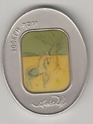 Salvador Dali Tribes Of Israel Joseph 105g Pure Silver Oval State Medal S/n 272