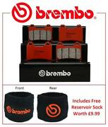 Brembo Sa Road Front Brake Pads Pair Ducati 916 St4 S Not Abs 2002 + Res Sock