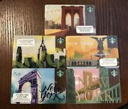 Lot Of 500 - Assorted New York Starbucks Gift Cards As Shown Ready To Ship.