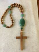 Anglican Rosary Handmade From Oregon With Olive Wood Beads And Aventurine Stones