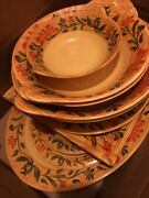Set Of 15 Get Melamine Large Serving Tray Bowls Heavy Duty Yellow Floral