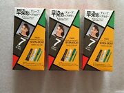 Paon Seven-eight Hair Dye Color - 7 Soft Black - Kit - Includes Brush - 3 Pack