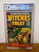 Golden Age Witches Tales 7 Cgc 7.0 Harvey Publications 1952