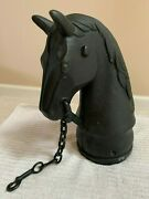 Cast Iron Horse Head Hitching Post 1880and039s Original
