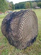 Heavy Duty 1-3/4 Mesh Hay Net For Round Bales By Hay Burners Equine Llc