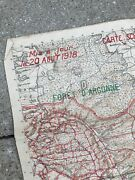 Wwi Secret 1918 French And Aef Verdun Argonne Marne Trench And Artillery Map Relic