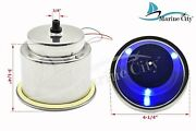 Stainless Steel 3-blue-led 12v,1w Drink Cup Holder With Drain 8 Pack