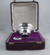 Posten Sterling Silver Roman Empire Bowl And Spoon Boxed Set Ancient Repro