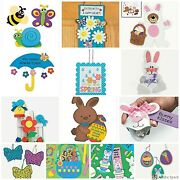 Easter Spring Craft Kit For Kids Butterfly Bunny Ladybug 20+ Choices Abcraft