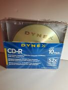 Dynex Cd-r Dx-10cdr 52x 80 Minute 700 Mb Jewel Case 10 Pack New