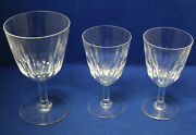 Baccarat Lorraine 1 One Water Goblet And 2 Two Port Wine Goblets