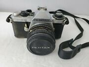 Vintage Pentax Me Super 35mm Camera And Lens Untested Selling For Parts Or Repair