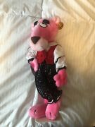 Pink Panther Touch Of Velvet 1980 Vintage Plush Collectible Toy With Stand Tags