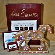 Trail Of The Painted Ponies Retired Signed X 4 Gingerbread Pony 1e/4593