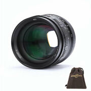 Brightin Star 50mm F1.4 Aps-c Large Aperture Manual Lens For Canon M Mount Camer