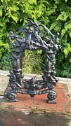 Antique Vintage Very Rare Bronze Picture Mirror Frame Signed By A Dyrenne