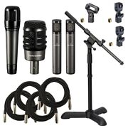 Audio-technica Atm-drum4 Drum Microphone Pack Cable Kit