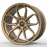 19 Momo Rf-5c Gold 19x10 Forged Concave Wheels Rims Fits Nissan 350z