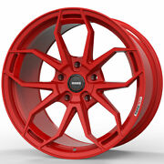 19 Momo Rf-5c Red 19x8.5 19x10 Forged Concave Wheels Rims Fits Audi B8 A5 S5